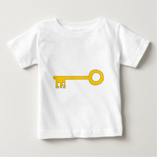 Gold Key on White. Baby T-Shirt