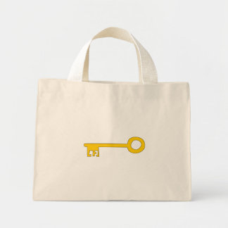 Gold Key on White Bags