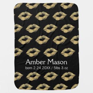 Gold Kisses Buggy Blanket