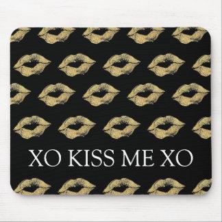 Gold Kisses Mouse Pad