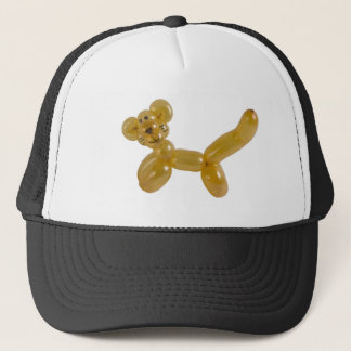 gold kitty balloon trucker hat