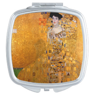 Gold Klimt Painting Compact Mirror