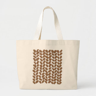 Gold knitting bag
