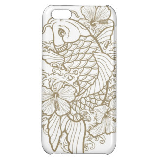 Gold Koi tattoo Cover For iPhone 5C