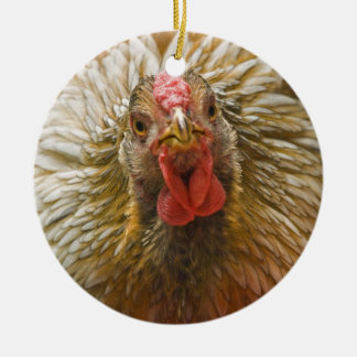Gold-Laced Wyandotte Chicken Christmas Ornament