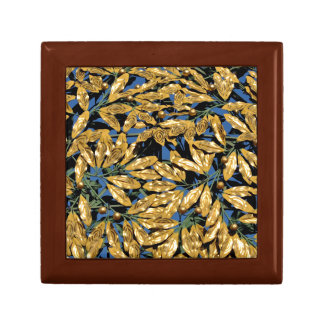 Gold Laurel Leaves Gift Box