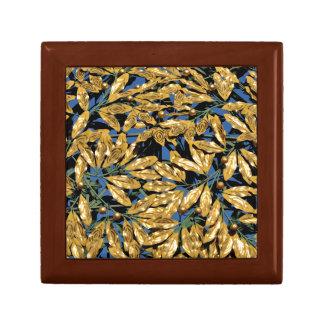 Gold Laurel Leaves Gift Box