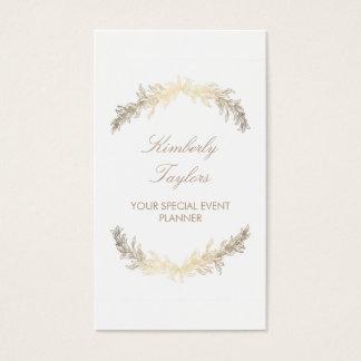 Gold Laurel Special Occasion Event Planner Elegant Business Card