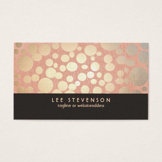 Gold Leaf Circles Makeup Artist Peach Linen Look