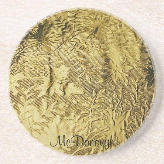 Gold Leaf Foil Pattern Coaster