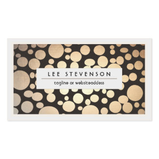 Gold Leaf Look Chic Modern Salon and Spa Pack Of Standard Business Cards