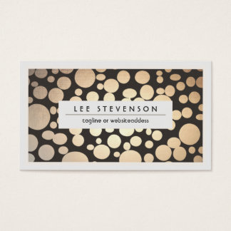 Gold Leaf Look Chic Modern Salon and Spa Business Card
