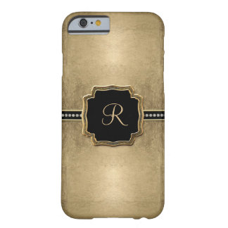 Gold Leaf Look Fleur de Lis Faux Vintage Jewel Barely There iPhone 6 Case