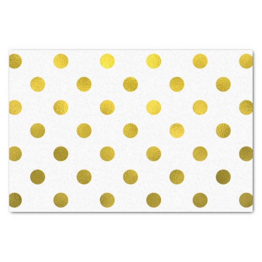 Gold Leaf Metallic Faux Foil Large Polka Dot