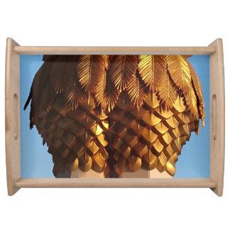 Gold Leaf Palms Serving Tray