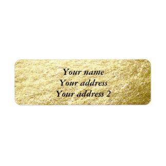 Gold Leaf Photo Return Address Label