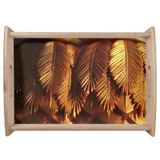 Gold Leaf Serving Tray