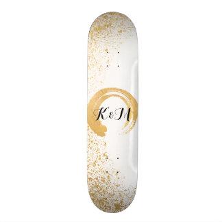 Gold Leaf Spray Skate Board Deck