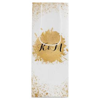 Gold Leaf Spray Wedding Gift Wine Gift Bag