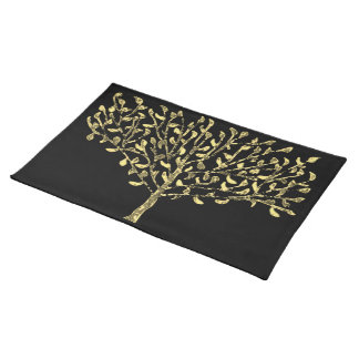 Gold Leaf Tree Placemats