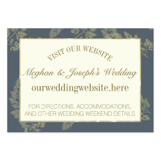 Gold Leaf Woodland Wedding Information Insert Pack Of Chubby Business Cards