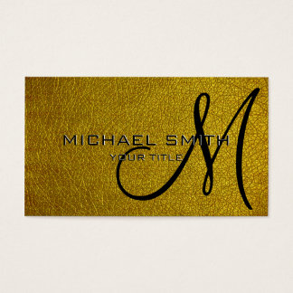 Gold leather business card