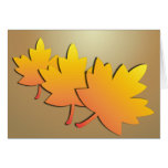 GOLD LEAVES CARD