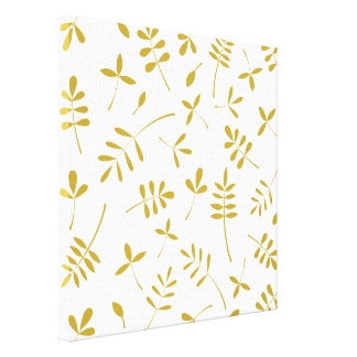 Gold Leaves Design Canvas Print