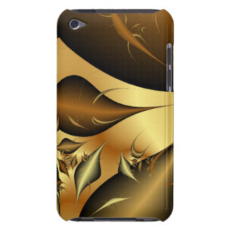 Gold Leaves Fractals Barely There iPod Covers