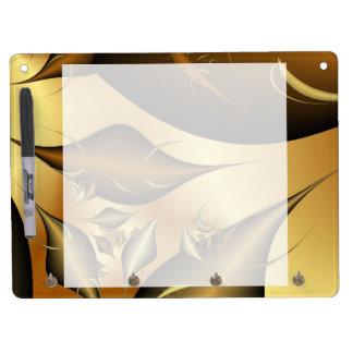 Gold Leaves Fractals Dry-Erase Whiteboard