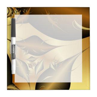 Gold Leaves Fractals Dry Erase Boards