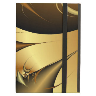 Gold Leaves Fractals iPad Cover