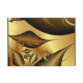 Gold Leaves Fractals Cases For iPad Mini