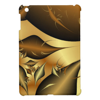Gold Leaves Fractals Cover For The iPad Mini