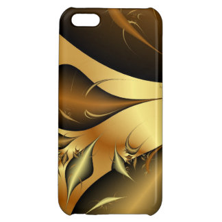 Gold Leaves Fractals iPhone 5C Cases
