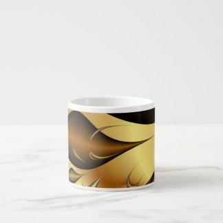 Gold Leaves Fractals 6 Oz Ceramic Espresso Cup