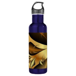 Gold Leaves Fractals 24oz Water Bottle