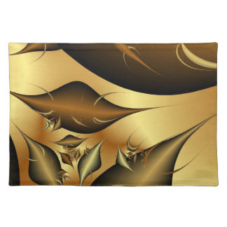 Gold Leaves Fractals Placemat