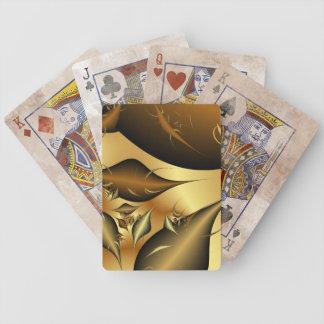 Gold Leaves Fractals Poker Deck