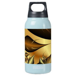 Gold Leaves Fractals 10 Oz Insulated SIGG Thermos Water Bottle