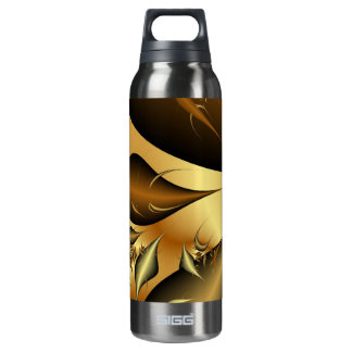 Gold Leaves Fractals 16 Oz Insulated SIGG Thermos Water Bottle