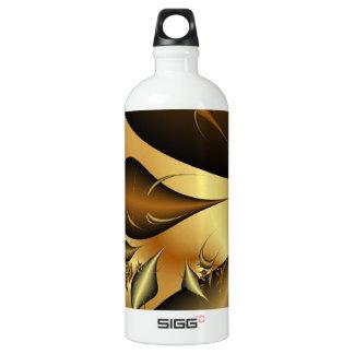 Gold Leaves Fractals SIGG Traveler 1.0L Water Bottle