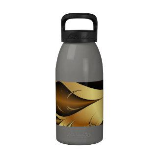 Gold Leaves Fractals Reusable Water Bottles