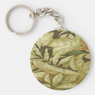 Gold Leaves On Black Key Chain