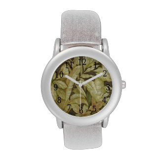 Gold Leaves On Black Watch