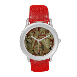 Gold Leaves On Red Watch