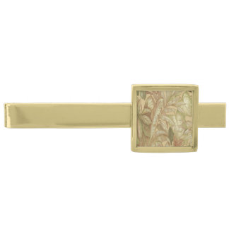 Gold Leaves Tie Bar Gold Finish Tie Clip