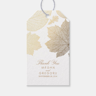Gold Leaves White Fall Wedding