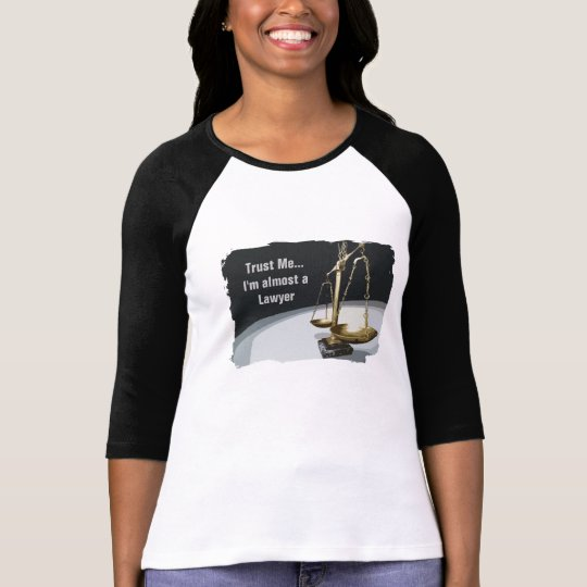 Gold Legal Scale of Justice T-Shirt