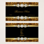 Gold Leopard Black Diamond Jewel Look Image Business Card